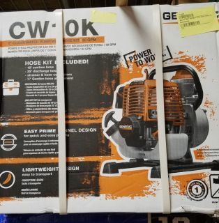 "Brand new Generac CW10K 1"" clean water pump"