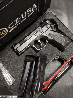 For Sale: CZ-75 P-01 9mm Compact Alloy Frame w/ 4 Magazines, CZ Range Bag & CZ Custom Grips