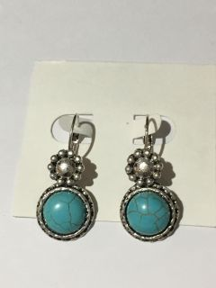 Turquoise blue Cabochon Earrings