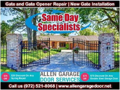 Commercial Gate Opener Repair only start $26.95 in Allen, TX