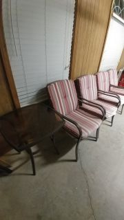 4 Patio Chairs and small table