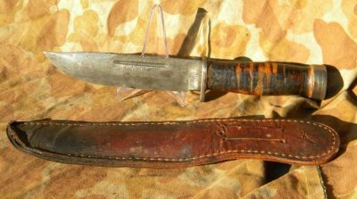 Cattaraugus Quartermaster Combat Knife 225Q WW2 US Military Army Marin