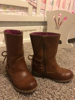Cat & Jack Fancy Brown Girl Boots Size 10