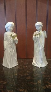 White ceramic matched angels