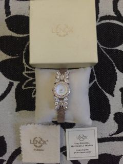 Beautiful - Butterfly Sterling Silver Watch -Original Lenox Timepiece, NEW