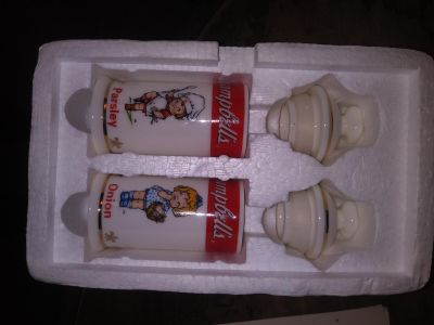 Collectible Campbells Seasoning containers