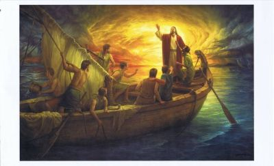 From Fear to Faith Litho Print by Howard Van Lyon - Signed - Jesus in the Boat