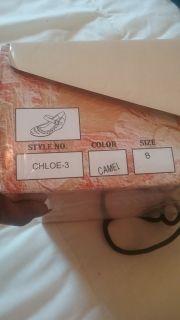 Cherish Brand Camel Wedges Size 8