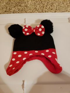 Minnie Mouse winter hat with bow