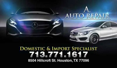 A. Auto repair is just a phone call away contact us at 713-771-1617