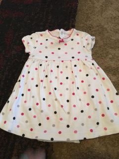 Carters 6m wht polka dot dress w/onesie - ppu (near old chemstrand & 29) or PU @ the Marcus Pointe Thrift Store (on W st)
