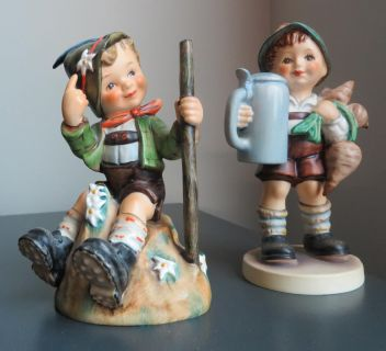 """Hummel Figurines """"Mountaineer"""" & """"For Father"""""""