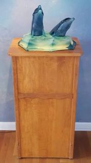 "WYLAND - ""FRIENDS OF THE SEA"" Acrylic Sea Sculpture & Light Box Pedestal"