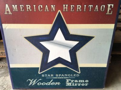 American Heritage Wooden Star Spangled Framed Mirror