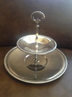 BEAUTIFUL Wm. Rogers silver plate 2 tier server *Porch Pickup*