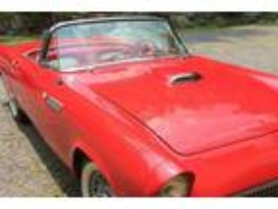 1955 Ford Thunderbird Red Convertible