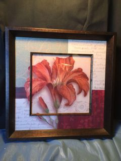 Painting red Lily