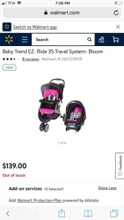 Baby trend stroller and car seat .