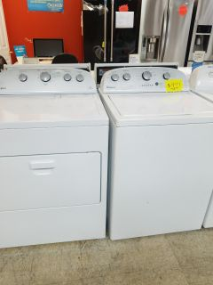 Whirlpool washer dryer set white
