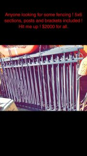 Fencing (black metal wity assembly/brackets equipment)