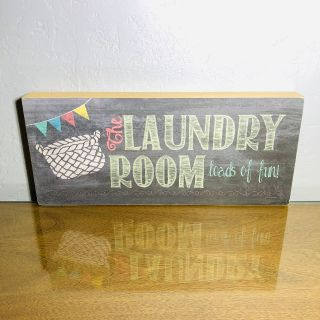 Laundry Room Block Sign