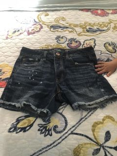 Distressed shorts fro American Eagle