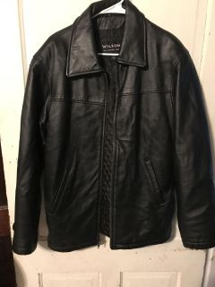 Men s leather jacket small