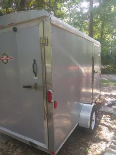 2007 12'x6' v-nose carry on cargo trailer