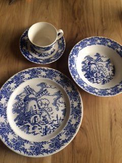 Blue Windmill dishes by Royal China