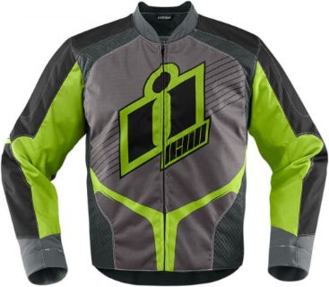 Buy Icon Overlord 2015 Textile Jacket Green motorcycle in Holland, Michigan, United States, for US $150.00