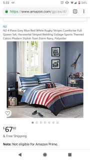 NWT Bedding Set: Queen Stripes