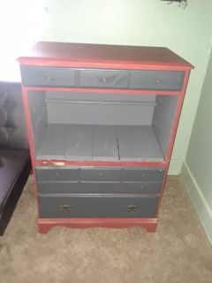 Repurposed Chest Of Drawers Made Into A Stand
