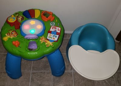 Leap frog Activity Table and Bumbo seat