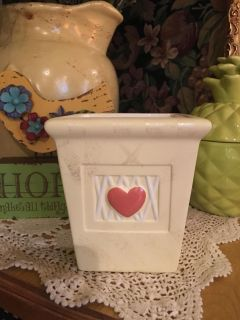 Flower pot/container with red heart
