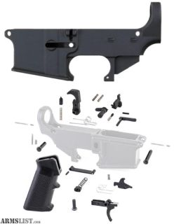 For Sale: 80% ANDERSON LOWER RECEIVER + TIGER ROCK LOWER PARTS KIT WITH GRIP