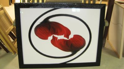 Entwined poppies artwork