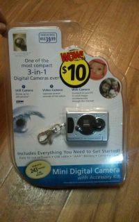 3 in 1 mini digital keychain camera NEW in packaging