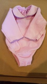 Pink with purple trim long sleeve 3-6 months