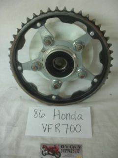 Purchase 86-87 Honda VFR-700 Rear wheel hub complete with sprocket. Good Used OEM motorcycle in Terrell, Texas, US, for US $39.95