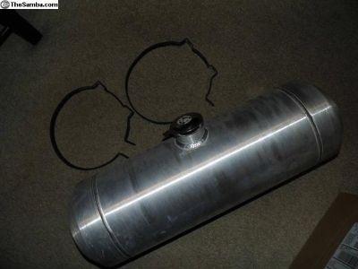 Good Used Spun Aluminum Fuel Tank, 5 Gallon