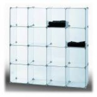 Tempered Glass Cube Retail Display