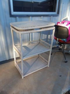 """High End well made wicker table with swivel top 17"""" X 26"""" X 36"""""""
