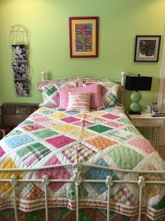 Pottery Barn Teen patchwork quilt. Queen size.