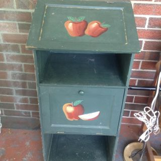 Hand Made ANTIQUE KITCHEN STORAGE BIN, Apples or Any! Needs Care like new Hinges or You Devide!
