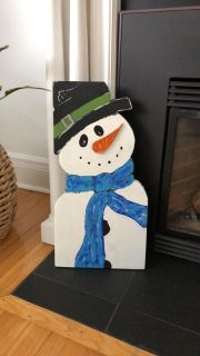 Hand crafted snowman