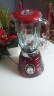 Oster Blender red glass pitcher/container