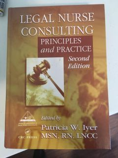 Legal Nurse Consulting textbook/reference book. Excellent condition.