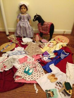 American Girl Doll - Felicity - dresses, accessories, horse