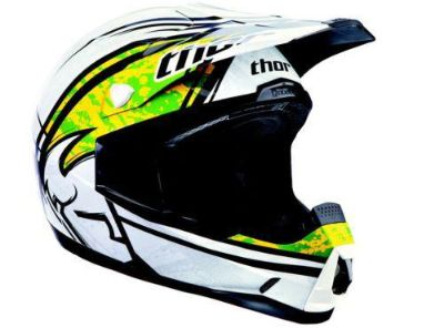 Find Thor 2013 Quadrant Splatter Helmet Green White MX Motorcross ATV XS X-Small NEW motorcycle in Elkhart, Indiana, US, for US $159.95