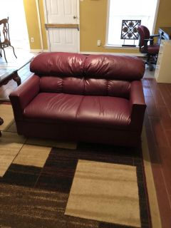Leather office loveseat and sofa